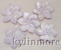 Wholesale 8SE04107 MM Natural Shell Carved Flower Beads Pc