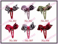 Wholesale New new boutique hair bows with snap clips Pretty girl hair clips