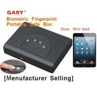 fingerprint safe box - Patent MS500 OK portable travel biometric fingerprint mini Ipad carry on car gun steel safe box