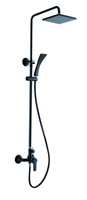 Wholesale Luxury Exposed Black Rain shower Solid brass shower Mixer Faucets