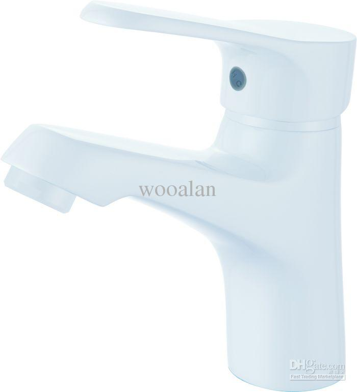Basin Faucet White Color Bathroom Luxury Solid Brass Sink Faucets ...