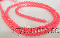 Wholesale 8SE05229a MM Pink Coral Faceted Round Beads