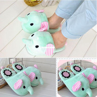 Wholesale New Fashion Women Girl Lady Cute Warm Soft elephant Style Home slippers L035303