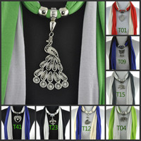 Wholesale Fashion pendant scarfs jewelry women sexy autumn tassel beaded pc designer jewellery scarves