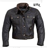 Precio de Chaquetas de los hombres de cera-Los hombres del diseñador envuelven la chaqueta delgada adelgazan el frente de la envoltura de la chaqueta del ajuste de la chaqueta con la hebilla en el shpping libre de la cintura