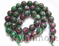 Wholesale 8SE09496a mm Ruby Zoisite Round beads
