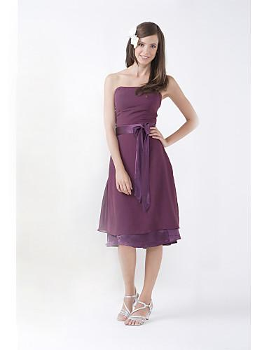 Plum Color Junior Bridesmaid Dresses 27