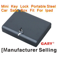 Wholesale MK500 portable steel Suitcase key lock travel mini gun car jewelry safe box Ipad Box