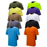 Wholesale Men quick drying Tshirt breathable hygroscopic sweat releasing mesh Solid Color short sleeved colo