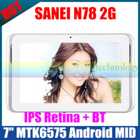 Wholesale New Sanei N78 G GSM Phone Call inch bluetooth ips wifi tablet pc android mtk