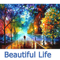 Wholesale Oil Painting Hand painted DIY Paint By Numbers Acrylic Drawing Home Decorating Beautiful Life