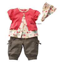 Wholesale girl suit summer wear headband tees baby legging hairband baby tights girls sets