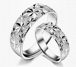 NEW Arrival!Fashion 925 sterling Silver plating Copper Endless Love Wedding Gemstone Open Rings For Couple 20pcs