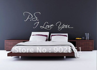 PVC bedroom art ideas - funlife PS I love you bedroom wall art sticker wedding engagement present gift idea x150cm
