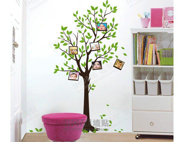 Popular Home Decor Pvc Material Diy Wall Sticker Photo Tree2 Room Paper Paster Diy Decoration Free S Peel Off Wall Stickers Peelable Wall Stickers From