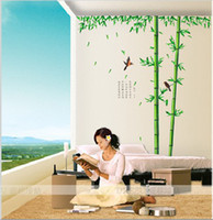 Plant bamboo stick plants - Polygonatum large chinese style bamboo wall stickers living room tv wall sofa removable home stick