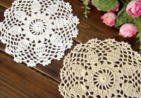 Wholesale 20 OFF Round crochet cup mat Handmade white cup doily mm