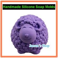 Wholesale 3D Cute Sheep Shape JSHM silicone soap mold siicone mold cake pudding chocolate candle mould ha