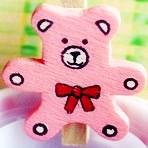 Wholesale Wooden cartoon lovely BEAR Paper bookmark photo memo etc CLIP Clips binding Charm funny chic clips