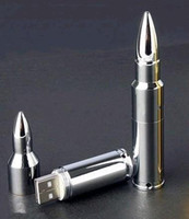 Wholesale NEW Silver Metal Bullet GB USB Memory Stick Flash Pen Drive DF76