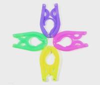 Wholesale travel hangers multicolor folding clothes hanger plastic hangers