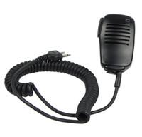 Wholesale 2 PIN Handheld Speaker Mic for ICOM IC V8 V82 STANDARD HORIZON Cobra Vertex Maxon Uniden IC J0268