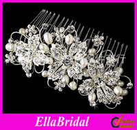 Comb Rhinestone/Crystal  2013 Fashion Crystal Pearl Hair Jewelry Rhinestone Alloy Crown Hair Ornament Tiaras Hair Accessories