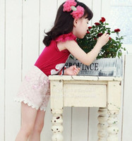 Girl 1-4year Summer 2013 summer 1-4year girl clothing baby Pants lace Shorts straight cut children Casual Pants