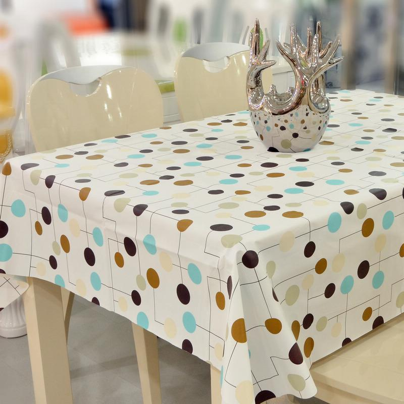 DIY Ruffle Table Cloth ... Use a plastic dollar store table cloth