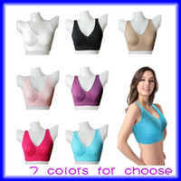 Wholesale HOT Bra Set Seamless Pullover V neck Bra Wide Shoulder Straps Total Comfort