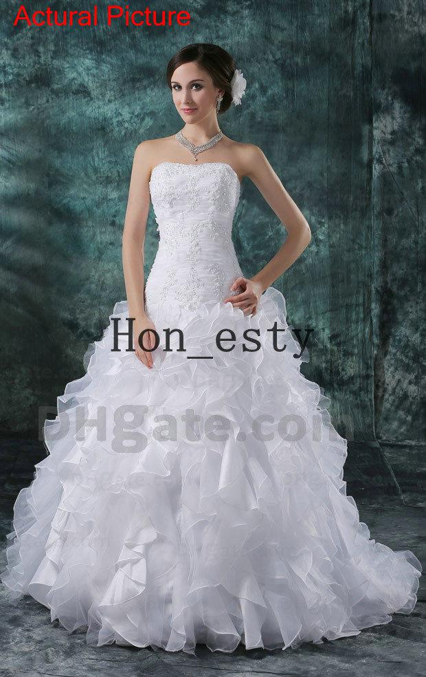 Winter wedding bridal gowns organza strapless lace up for Winter wedding dresses for sale