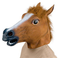 Wholesale Creepy Horse Mask Head Halloween Costume Theater Prop Novelty Latex Rubber of
