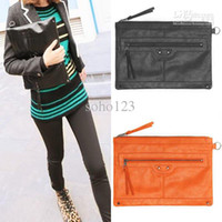 Wholesale New Fashion Women Big Tote Bag Handbag Evening Bag Purse Wallet Black Orange
