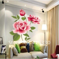 Wholesale Rose Flower Butterfly Removable Wall Vinyl Decal Art DIY Home Decor Wall Sticker