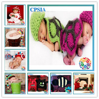 Wholesale baby crochet Christmas caps Girls newborn animal hats infant cotton Boys Hats Beanies lot08