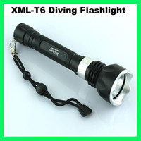 Wholesale New Underwater Diving Flashlight Torch T6 LED Light Lamp Waterproof SLM
