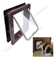 Wholesale New Good Cat Kitten Small Dog Pet Way Flap Door Lock Safe Lockable Useful