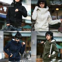 Wholesale hot top Womens New Trendy Hoodie Casual Outerwear Autumn Winter jacet women coat color