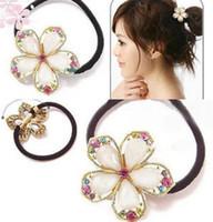 Wholesale hot sale Flowers Hair Ring Hair Rope Elastic Hair Bands gift