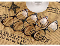 Wholesale 2013 New Wood Geek Optical Frame PC Frame Bamboo Temples Nerd Eyewear Free Shipment