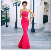 Wholesale 2014 Long Evening Dress New Hot Sell Formal Dress Purple Red Water Melon Rose red Blue Party Dress With Tracking number