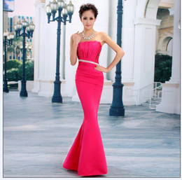 Wholesale Long Evening Dress New Hot Sell Formal Dress Purple Red Water Melon Rose red Blue Party Dress With Tracking number