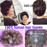 Wholesale human hair toupee closure Men s Toupee Indian Remy Human Hair Hair Replacement