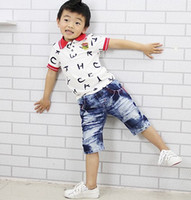 Wholesale 2013 Summer Letters Shorts Cotton Stretch Fabric Children Casual Denim Pants