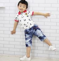 Wholesale 2013 Summer Letters Shorts Cotton Stretch Fabric Children Casual Denim Pants
