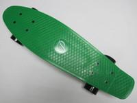 "Bat Board Plastic 22 inch Free shipping 22"" complete cruiser skateboards mini fish Nickel green plastic penny Style board"