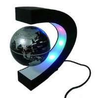 Wholesale C shape Decoration Magnetic Levitation Floating Globe World Map LED Light