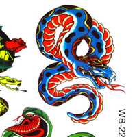 Ankle/Foot pattern tattoo designs - New Temporary Tattoos Snake Pattern Design Authentic