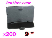 For BlackBerry 9 inch tablet case - 200pcs Inch Tablet Case Inch PU leather Tablet Case Mixed Color RW L14