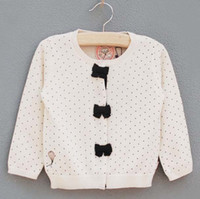 Girl 3T-4T 3-4-5-7-8 Children Cardigan Girls Polka Dot Sweaters Knitting Patterns Fashion Kids Long Sleeve Cardigan Coats